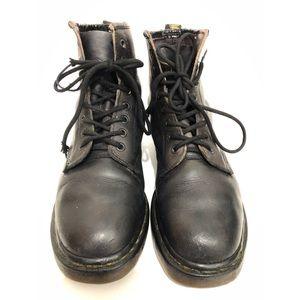Vintage Dr.Martens 1460 Boots Leather Black/Purple